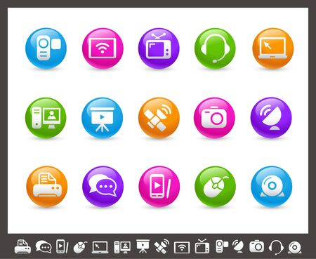 Communication Icons -- Rainbow Series Vector
