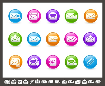 E-mail Icons -- Rainbow Series Stock Vector - 17143120