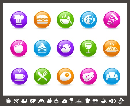 Food Icons - Set 1 of 2 -- Rainbow Series Vector