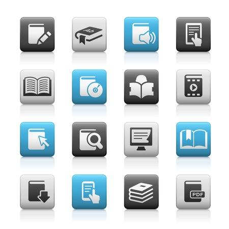 e books: Book Icons -- Matte Series Illustration