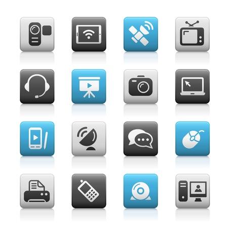 logo ordinateur: Icônes de Communication - Matte Series Illustration