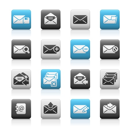 E-mail Icons  -- Matte Series Stock Vector - 17562711