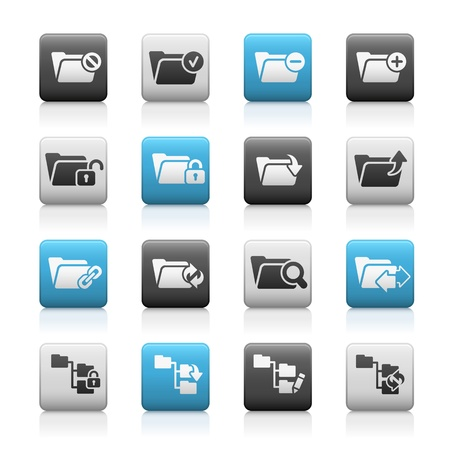 Folder Icons - 1 -- Matte Series Stock Vector - 17562704