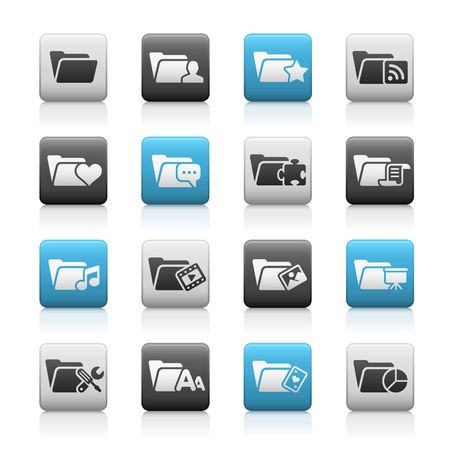 matte: Folder Icons - 2 -- Matte Series Illustration