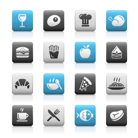 Food Icons - 1 -- Matte Series Vector