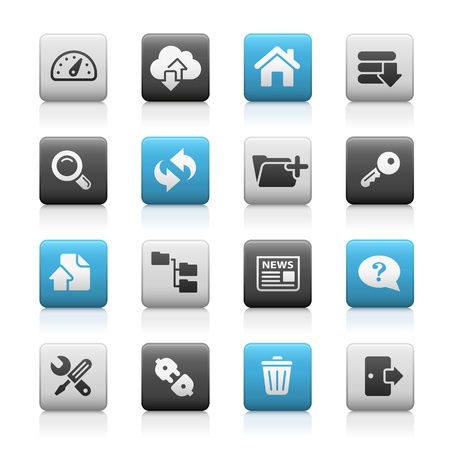 Hosting Icons -- Matte Series Vector