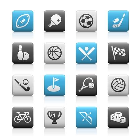 Sports Icons -- Matte Series Illustration