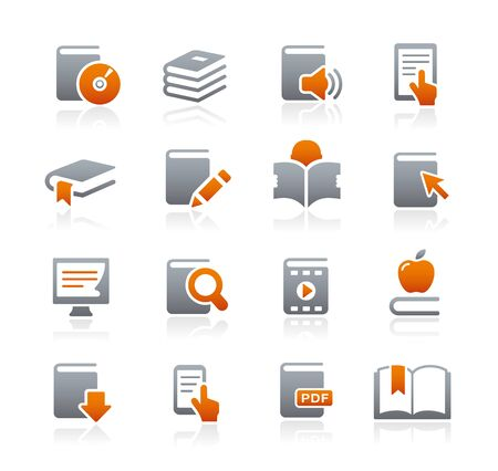 Book Icons -- Graphite Series Vector
