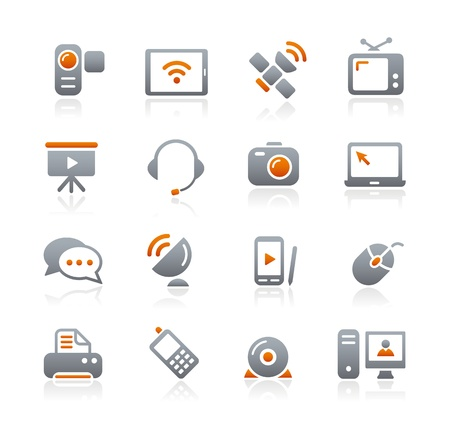 printers: Communication Icons -- Graphite Series Illustration