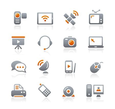 Communication Icons -- Graphite Series Illustration