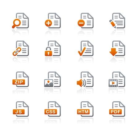 Documents Icons -1 -- Graphite Series Stock Vector - 18024723
