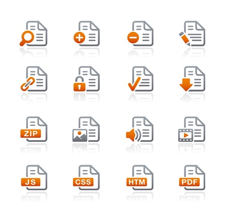 Documents Icons -1 - Graphite Series