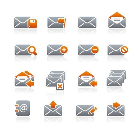 grafito: E-mail - Serie Iconos del grafito Vectores