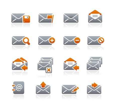 E-mail Icons -- Graphite Series Vector