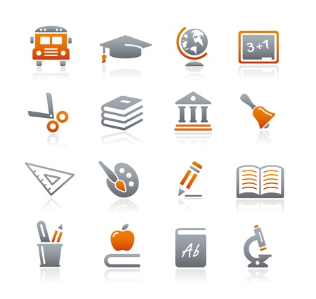 Education Icons -- Graphite Series Stock Vector - 18024722
