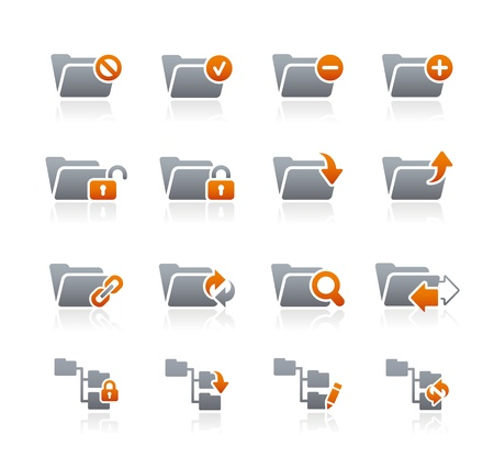 grafit: Folder Icons - 1 - Graphite Series Ilustracja