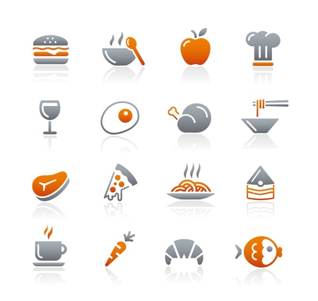 continental food: Food Icons - 1 -- Graphite Series Illustration