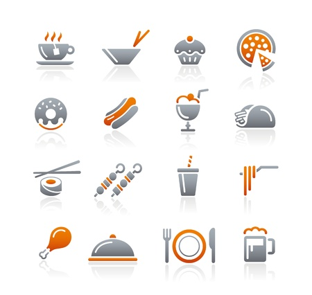 Food Icons - 2 -- Graphite Series Vector