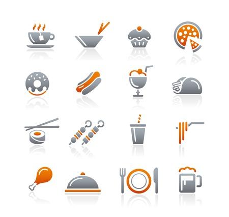 Food Icons - 2 -- Graphite Series Ilustração