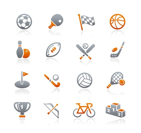 Sports Icons -- Graphite Series Stock Vector - 18024726