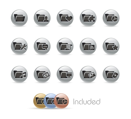 Folder Icons Stock Vector - 18847657
