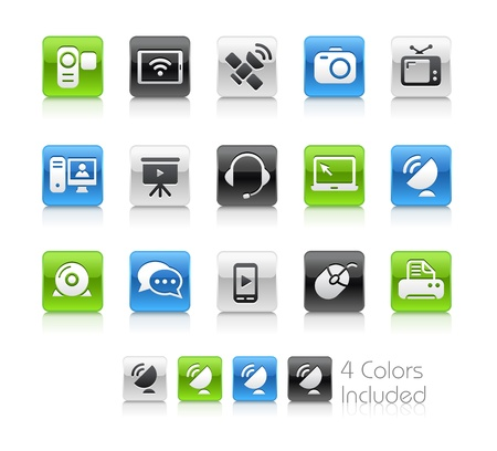 Communication Icons -- The file includes 4 color versions for each icon in different layers Stock Vector - 19117255