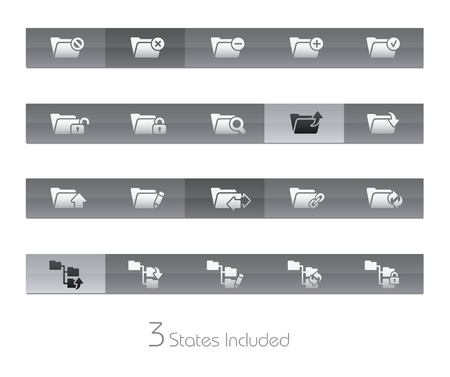 Folder - Set 1 - Gelbar Series - The EPS file includes 3 buttons states in different layers Stock Vector - 19561195