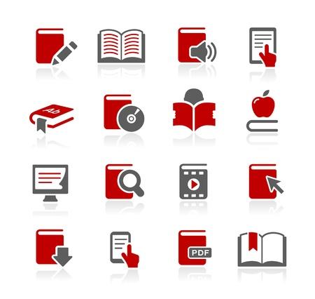 Book Icons -- Redico Series Stok Fotoğraf - 20353626