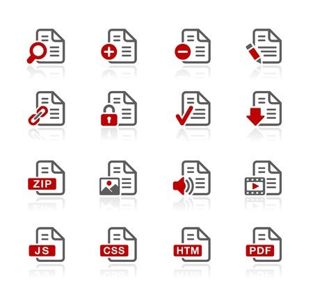 Documents Icons - 1 -- Redico Series Stock Vector - 20353638