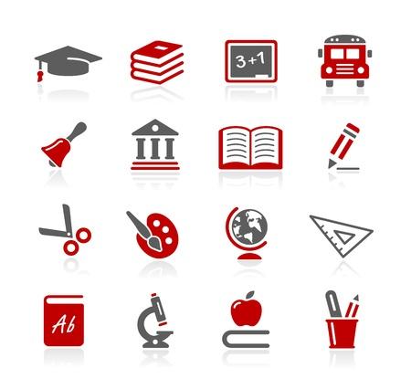 iconos educacion: Iconos de la educaci�n - serie de Redico Vectores