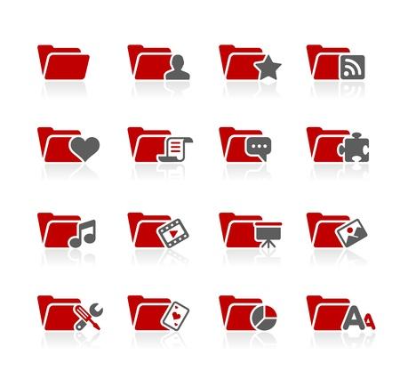 Folder Icons - 2 -- Redico Series Stock Vector - 20353634
