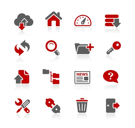 ftp servers: FTP and Hosting Icons -- Redico Series