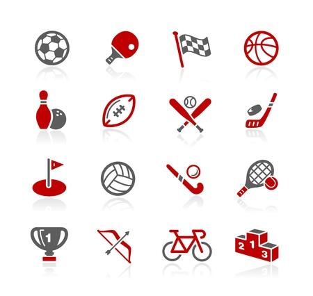 Iconos deportivos - serie de Redico Foto de archivo - 20353633