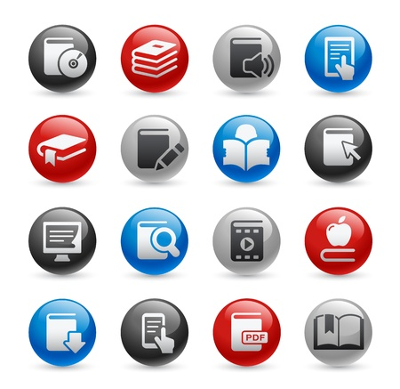 Book Icons -- Gel Pro Series Stock Vector - 20743803