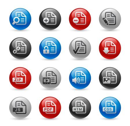 js: Documents Icons - Set 1 -- Gel Pro Series