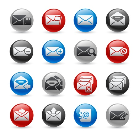 E-mail Icons -- Gel Pro Series Vector