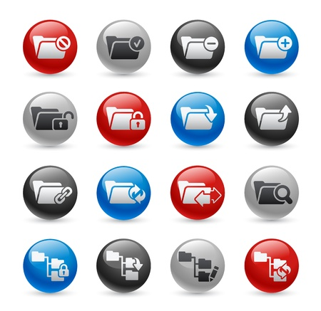 Folder Icons - Set 1 -- Gel Pro Series Stock Vector - 20744102