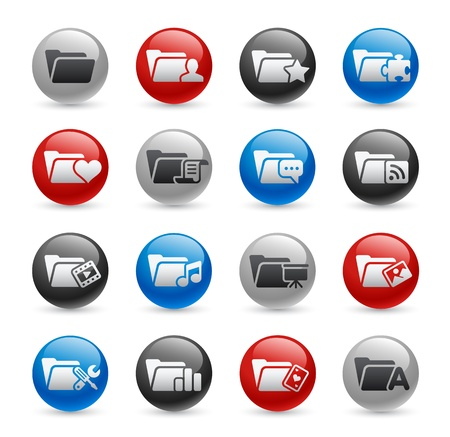 Folder Icons - Set 2 -- Gel Pro Series Vector