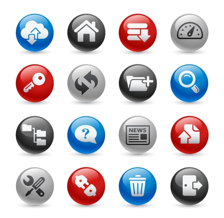 pro: Hosting Icons -- Gel Pro Series Illustration