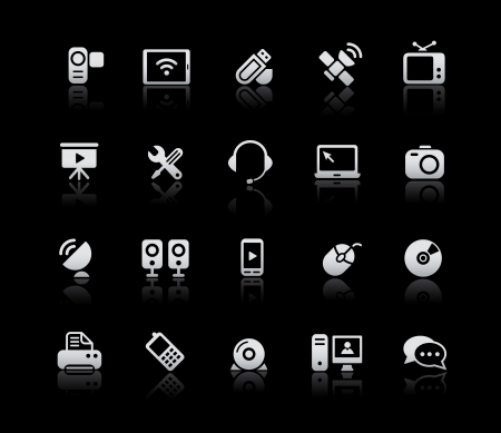 communication icons: Communication Icons -- Silver Series