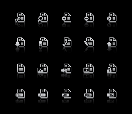 Documents Icons - Set 1 -- Silver Series Stock Vector - 21046301