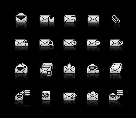 select all: E-mail Icons -- Silver Series