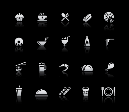 Food Icons - Set 2 -- Silver Series Vector