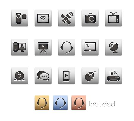 Communication Icons - The set includes 4 color versions for each icon in different layers