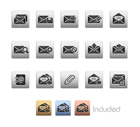 E-mail Icons - The set includes 4 color versions for each icon in different layers  Stock Vector - 21686266