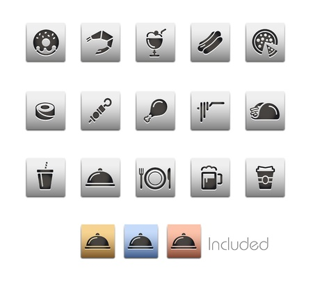 Food Icons - Set 2 - The set includes 4 color versions for each icon in different layers  Vector