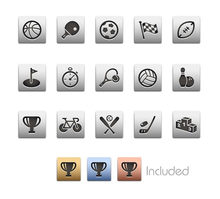 Sports Icons - The set includes 4 color versions for each icon in different layers Stock Vector - 21686269