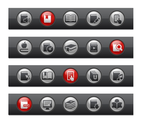 E-Books -- Button Bar Series  Stock Vector - 22038064