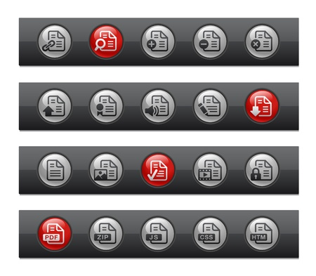 Documents - Set 1 of 2 -- Button Bar Series Stock Vector - 22038066