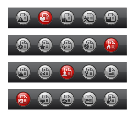 Documents - Set 2 of 2 -- Button Bar Series  Vector